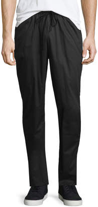 ATM Anthony Thomas Melillo Raw-Hem Drawstring Sweatpants, Black