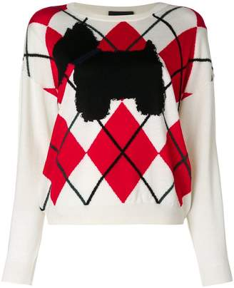 Moschino argyle sweater