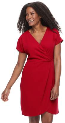 Plus Size Suite 7 Faux-Wrap Dress