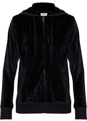 DKNY Metallic Velour Hooded Pajama Top