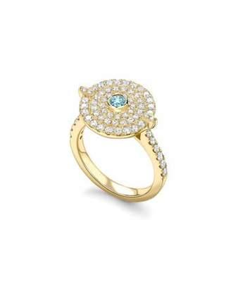 Kiki McDonough Fantasy Diamond & Blue Topaz Disc Ring