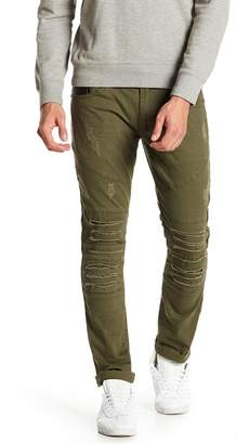 """X-Ray Distressed Faux Leather Jeans - 30-32\"""" Inseam"""