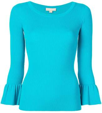 Michael Kors knit flared sleeve top
