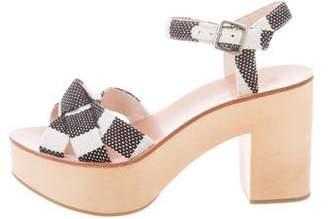 Loeffler Randall Woven Platform Sandals