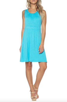 Neesha Twist-Neck Keyhole Dress