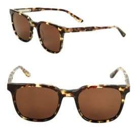 Bottega Veneta 61mm Tortoise Shell Square Sunglasses