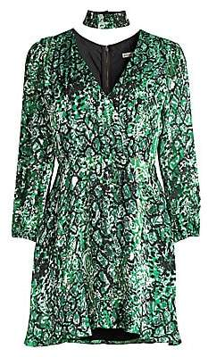 Alice + Olivia Women's Rita Blouson Sleeve Print Dress