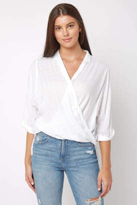 Elan International 3/4 Surplice Blouse