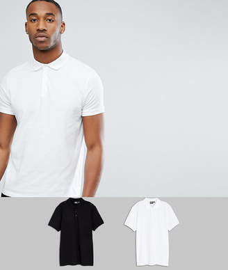 Asos Design DESIGN jersey polo 2 pack save