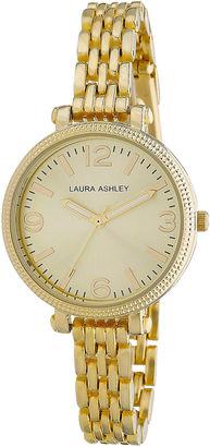 Laura Ashley Ladies Gold Link Bracelet Watch La31006Yg $395 thestylecure.com