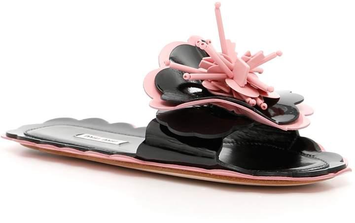 Bicolor Patent Sandals