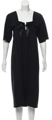 Saint Laurent Half-Sleeve Midi Dress