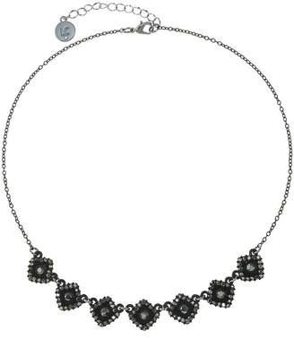 Liz Claiborne Womens Gray Square Collar Necklace