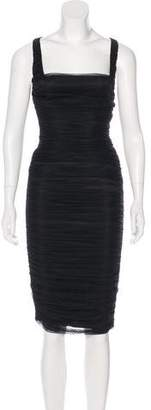 Thomas Wylde Lace Midi Dress