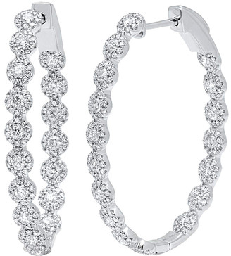 Diamond Select Cuts Diana M. Fine Jewelry 14K 2.05 Ct. Tw. Diamond Hoops