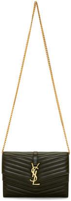 Saint Laurent Green Sulpice Chain Wallet Bag