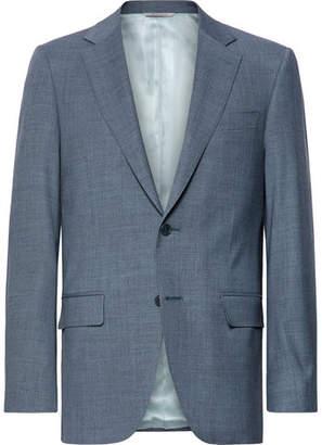 Canali Storm-Blue Slim-Fit Wool Suit Jacket