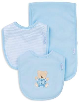Little Me Infant Boys' Bear Bib & Burp Cloth Set