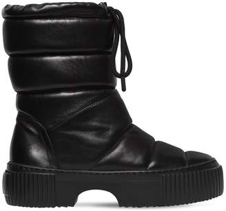 50mm Padded Leather Midi Boots