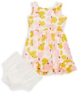 Kate Spade Baby Girl's Two-Piece Paint Daub Ruffle Dress & Briefs Set