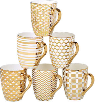 Certified International Elegance Gold 6-pc. Coffee Mug