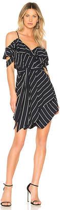 KENDALL + KYLIE Pinstripe Ruffle Dress