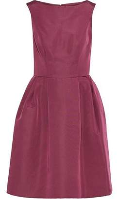 Carolina Herrera Pleated Silk-Faille Dress