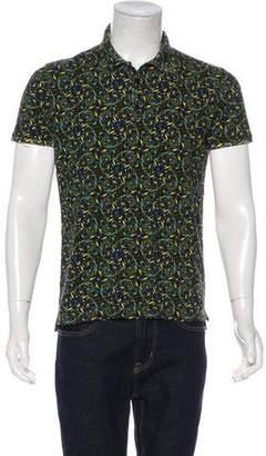 Fendi 2017 Floral Print Polo Shirt