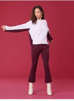 Diane von Furstenberg Long Sleeve Satin Sweatshirt