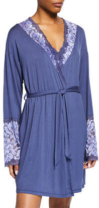 Cosabella Natalia Lace-Trim Short Robe