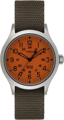 Timex R) ARCHIVE Scout Reversible Canvas Strap Watch, 40mm