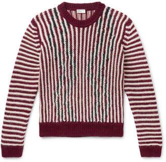 Saint Laurent Slim-Fit Striped Wool-Blend Sweater