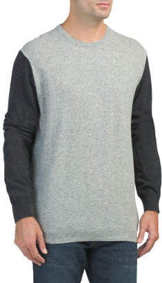 Lambswool Color Blocked Sweater