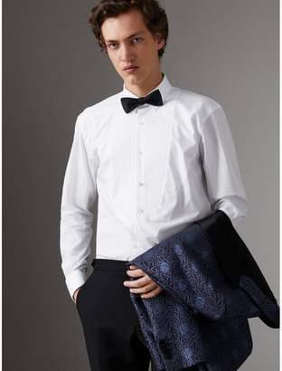 Burberry Modern Fit Pick-stitch Detail Bib Cotton Poplin Dress Shirt