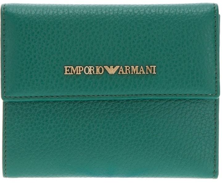Emporio Armani branded fold-over wallet