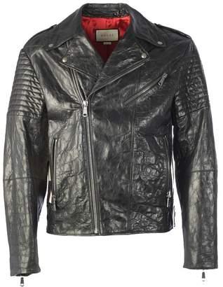 Gucci Logo Biker Jacket