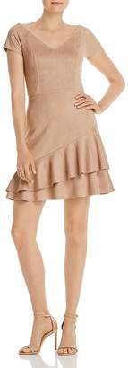 Aqua Ruffled Faux Suede Dress - 100% Exclusive