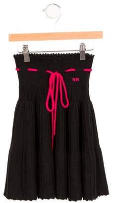 Sonia Rykiel Girls' Knit Tie-Accented Skirt