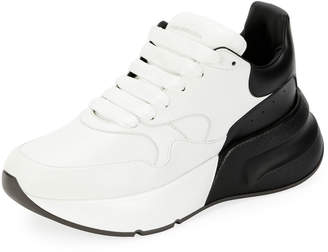 Alexander McQueen Two-Tone Platform Trainer Sneakers