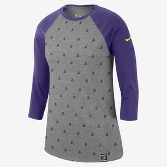 Nike Los Angeles Lakers Dri-FIT Women's 3/4-Sleeve NBA T-Shirt