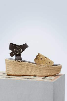 Loewe Plateform espadrilles with embroideries