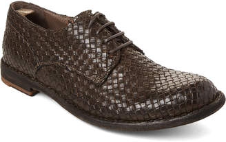 Officine Creative Dark Grey Basketweave Leather Derby Shoes