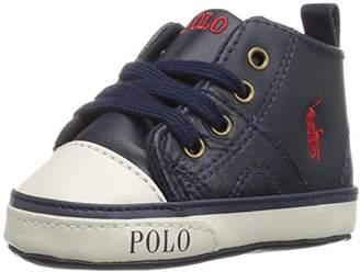 Ralph Lauren Daymond Mid Zip Sneaker (Infant/Toddler)