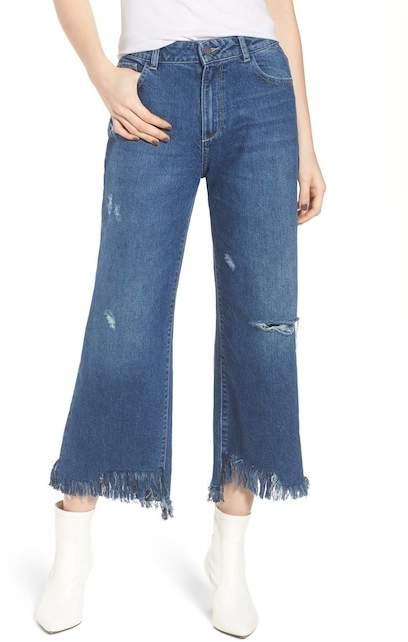 DL1961 Hepburn High Waist Wide Leg Jeans (Goldfield)