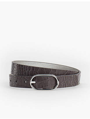 Talbots Reversible Belt - Saffiano Leather/Metallic