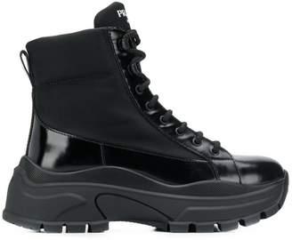 Prada platform combat boots