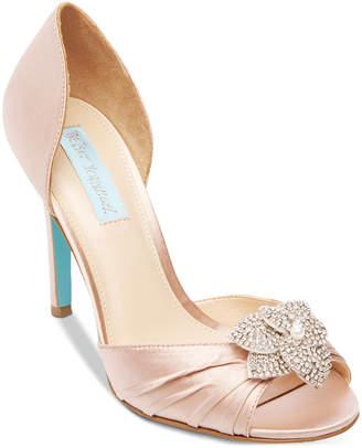 Betsey Johnson Blue by Briar Peep-Toe Pumps Women Shoes