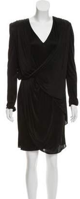 Versace Long Sleeve Jersey Dress