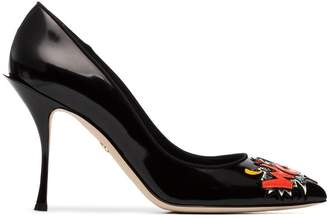 Dolce & Gabbana 90 Patent 'Wow' Embroidered Pumps
