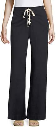 Splendid Women's Lace-Up Flared Pants